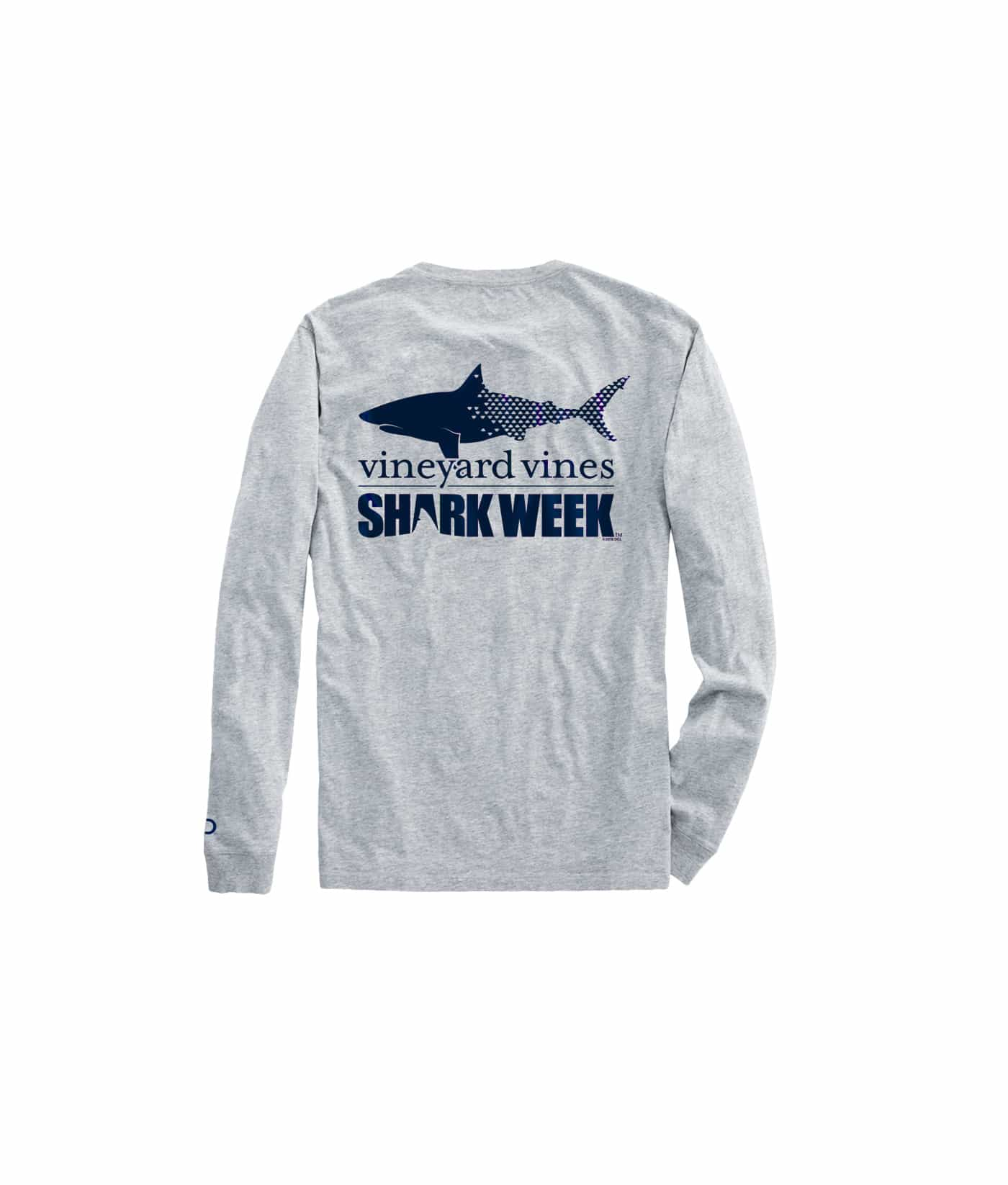 Mens Shark Week Long-Sleeve Shark T-Shirt