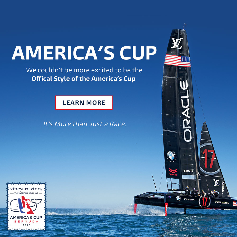 We couldn't be more excited to be the Official Style of the America's Cup. It's more then just a race. Click here to learn more.