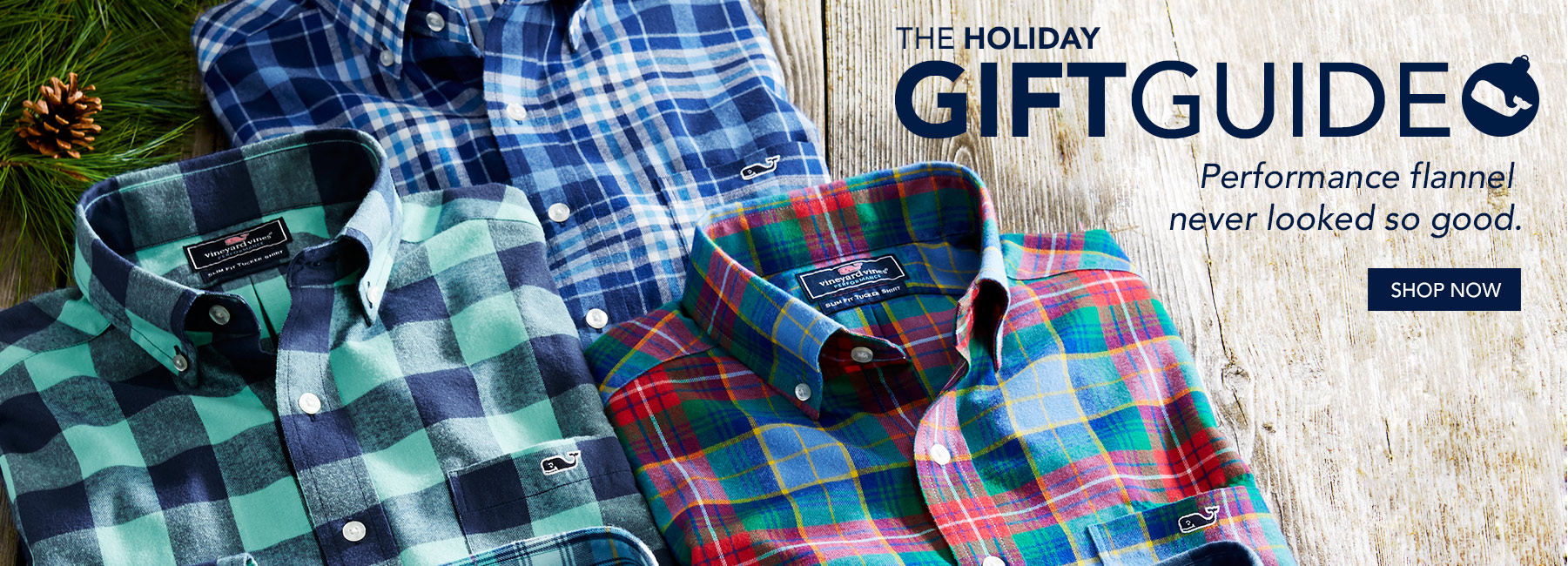 The holiday gift guide. Performance flannel never looked so good. Shop now.