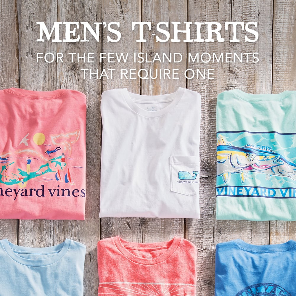 Men's T-Shirts. For the few island moments that require one.