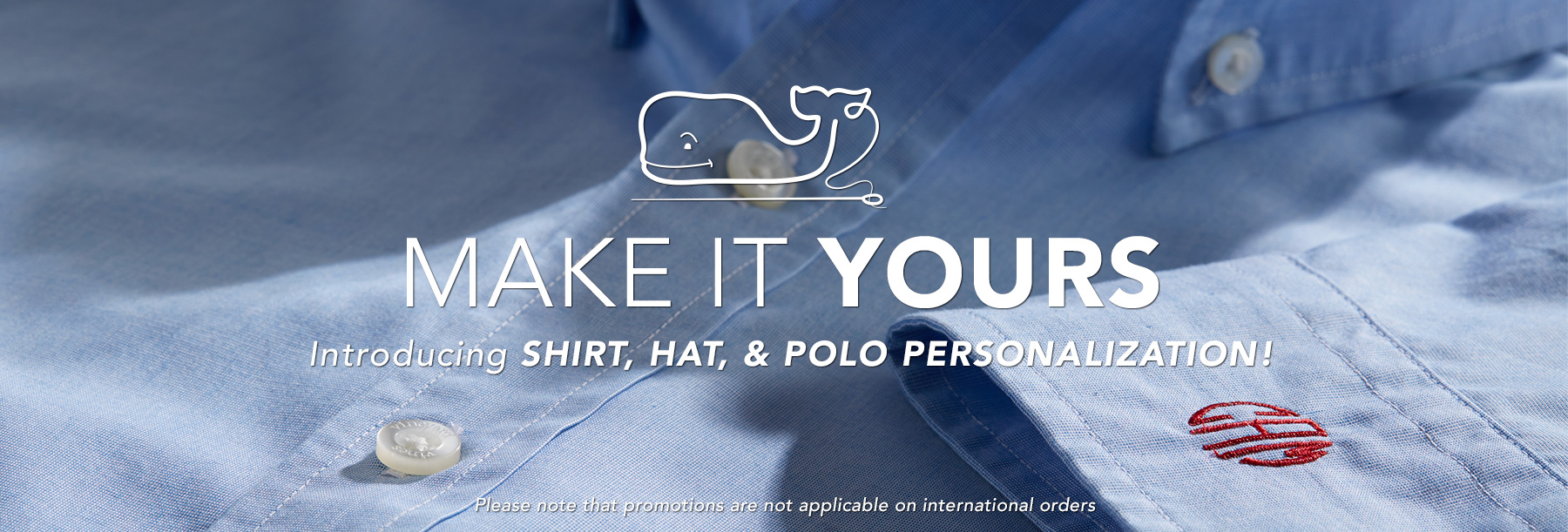 Make your mark. Introducing shirt, polo & hat personalization!