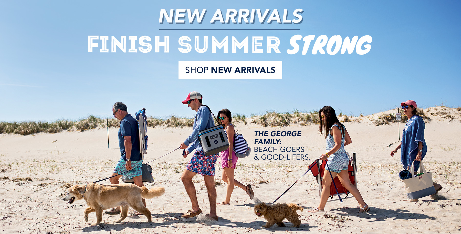 New Arrivals. Finish Summer Strong. The Georges Family: Beach Goers & Good-Lifers. Kelly & Caitlin are vineyard vines teammates... and sisters! Shop New Arrivals.
