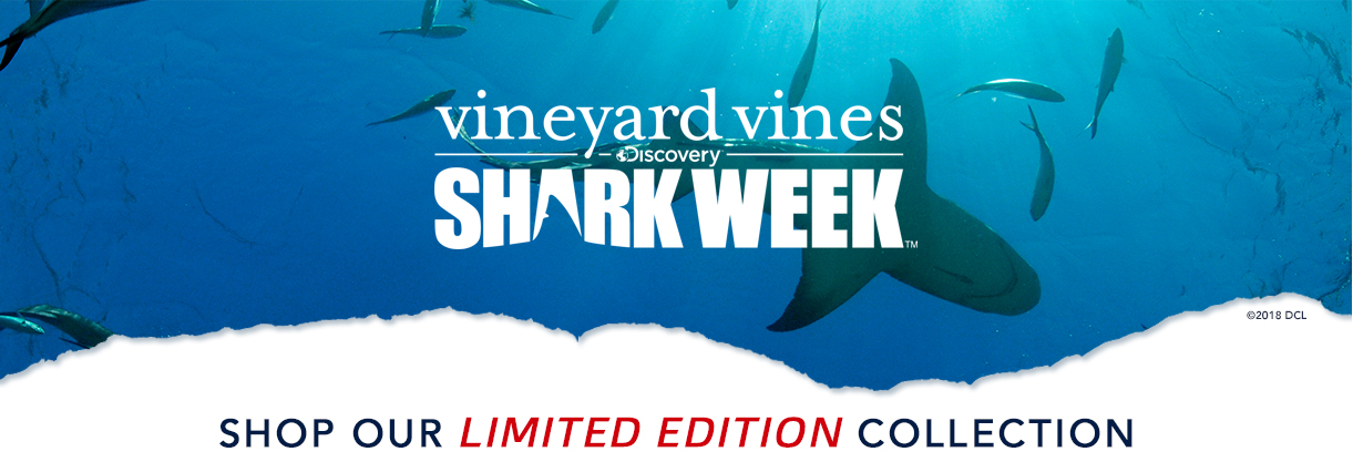 vineyard vines x Shark Week. Shop our limited edition collection