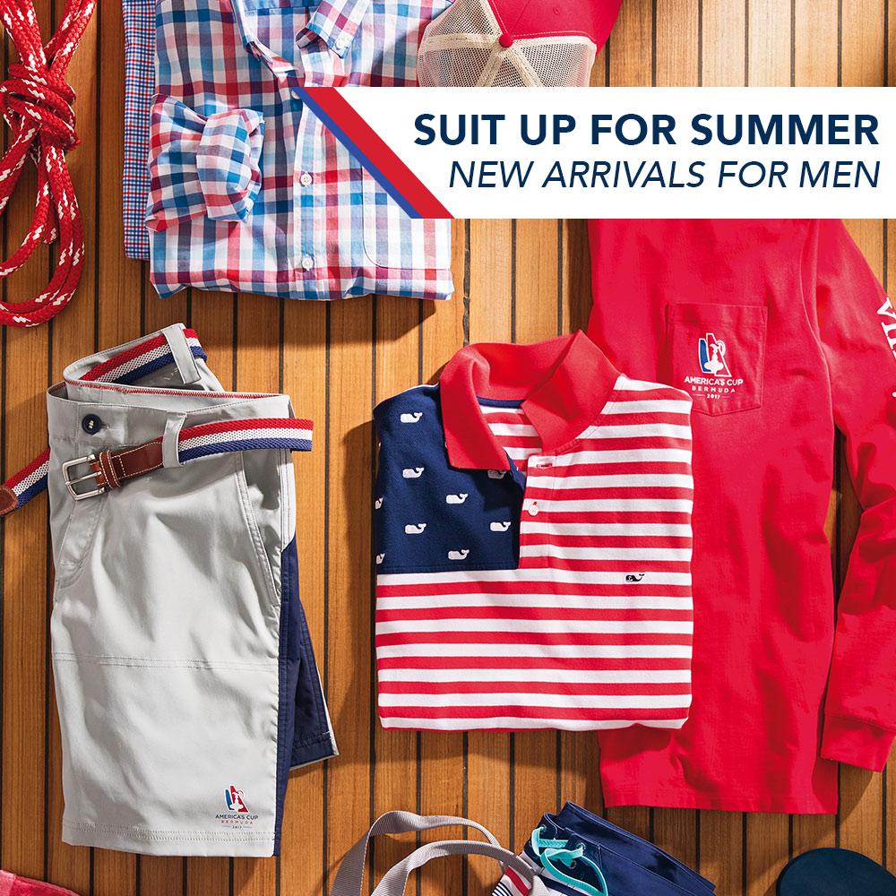Suit Up for Summer. New Arrivals for Men