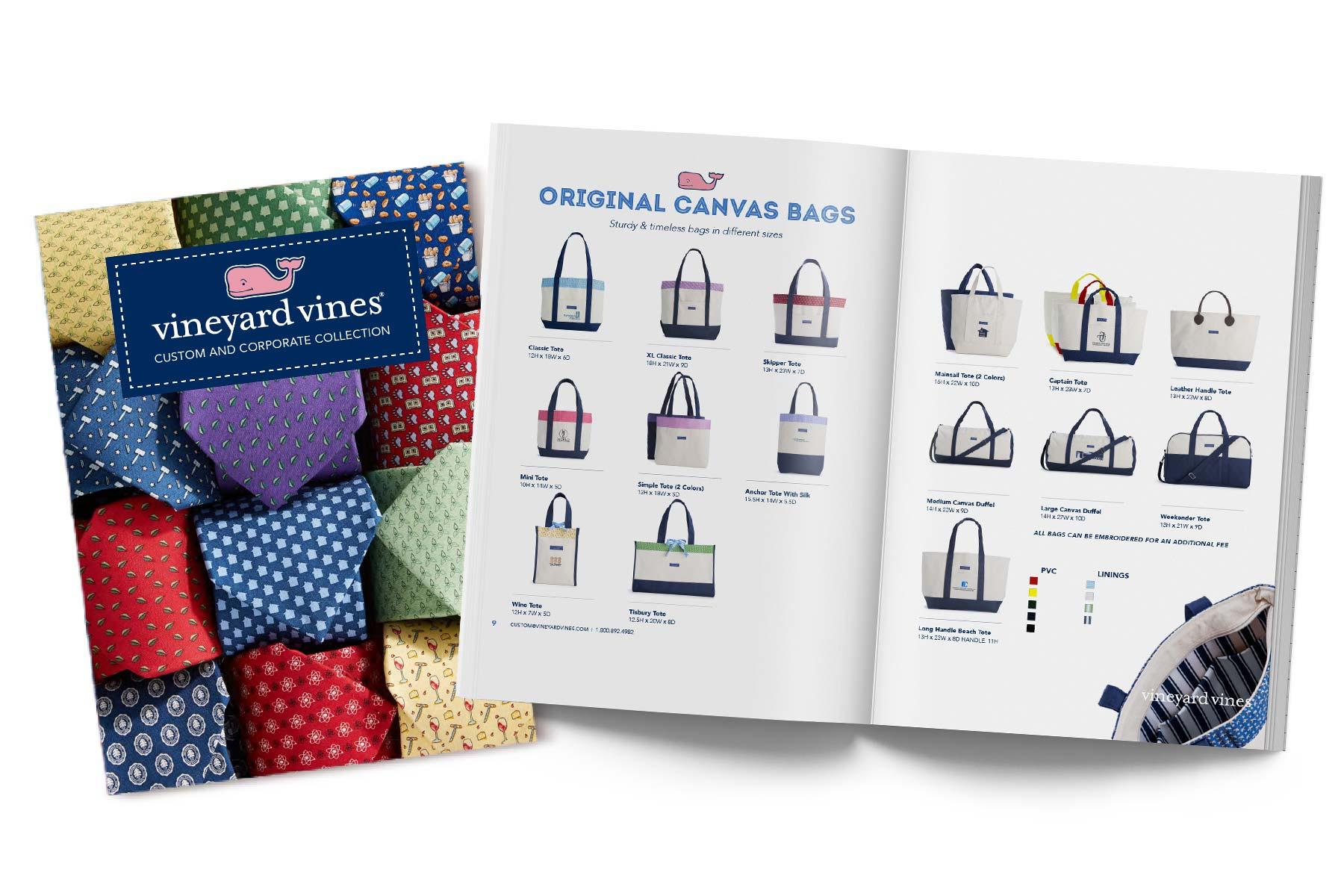vineyard vines Custom and Corporate Collection catalog.