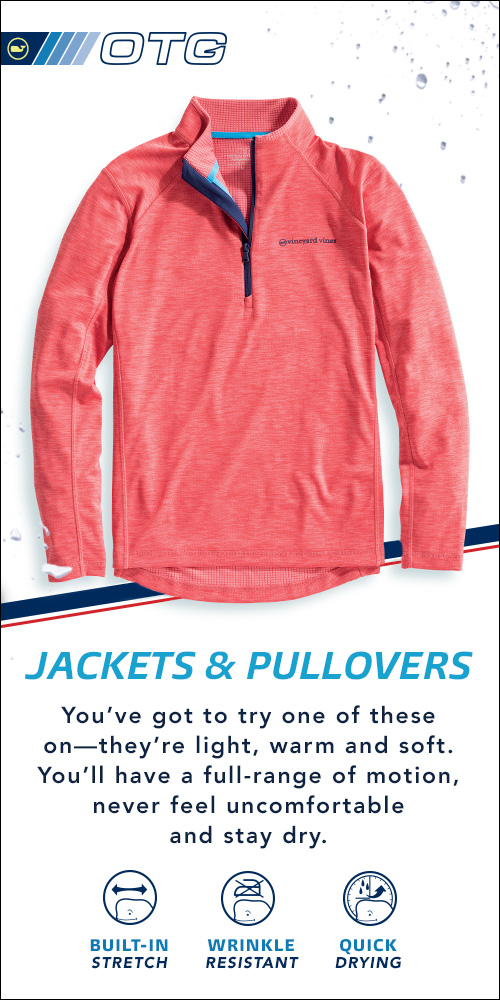 Jackets & Pullovers. You've got to try one of these on-they're light, warm and soft. You'll have a full range of motion, never feel uncomfortable and stay dry.