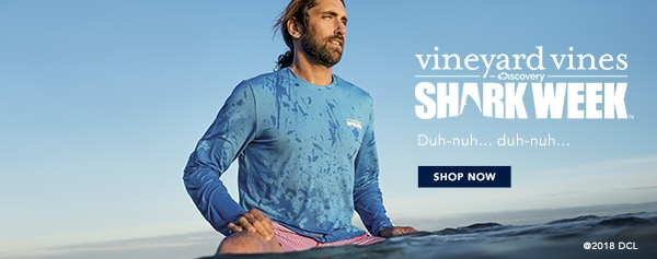 >vineyard vines x Shark Week. Shop Now.