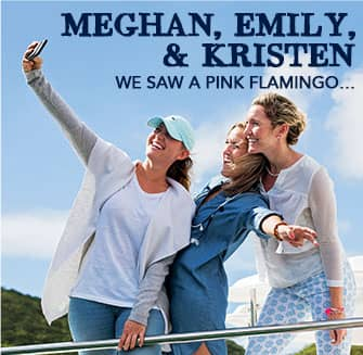 Meghan, Emily, & Kristen: We Saw a Pink Flamingo...