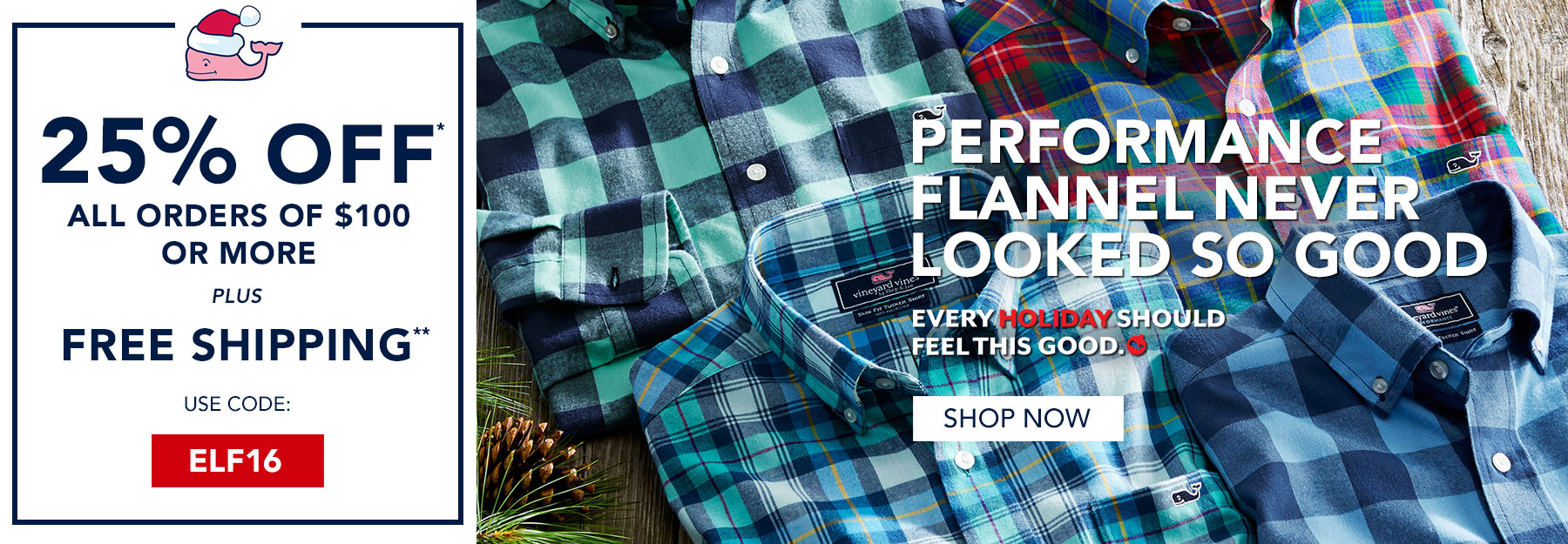 25% off $100 or more plus free shipping. Use code ELF16. Shop now.