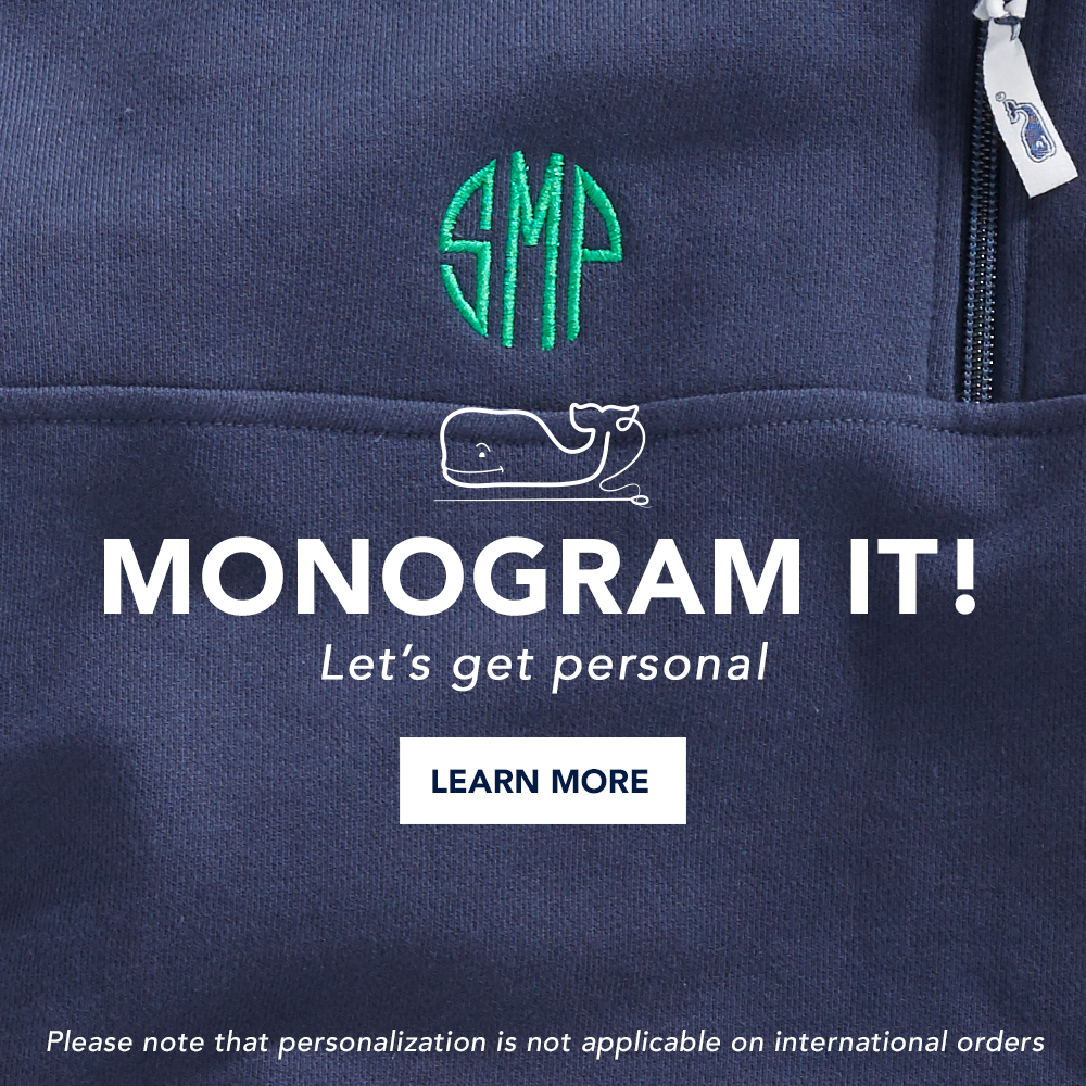 Monogram it! Lets get personal. Learn More. Please not that promotions are not applicable on international orders.
