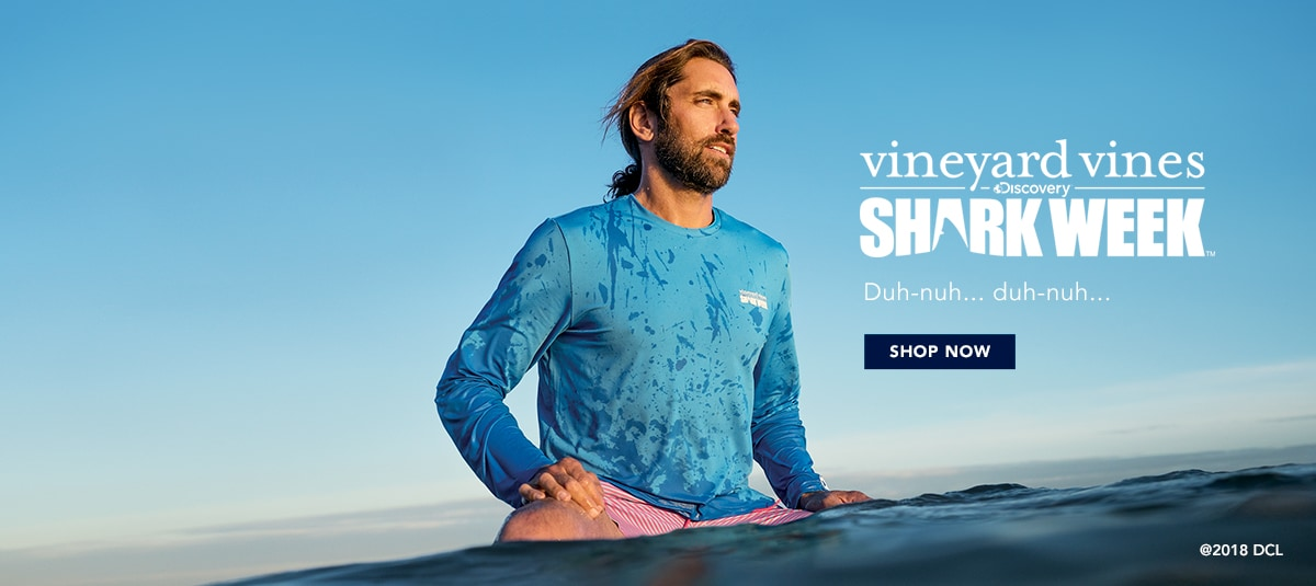 vineyard vines x Shark Week. Shop Now.