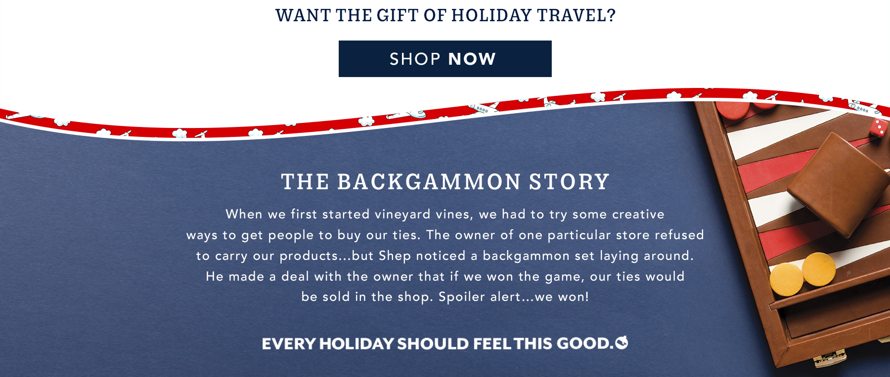 Want the gift of holiday travel? Shop now.