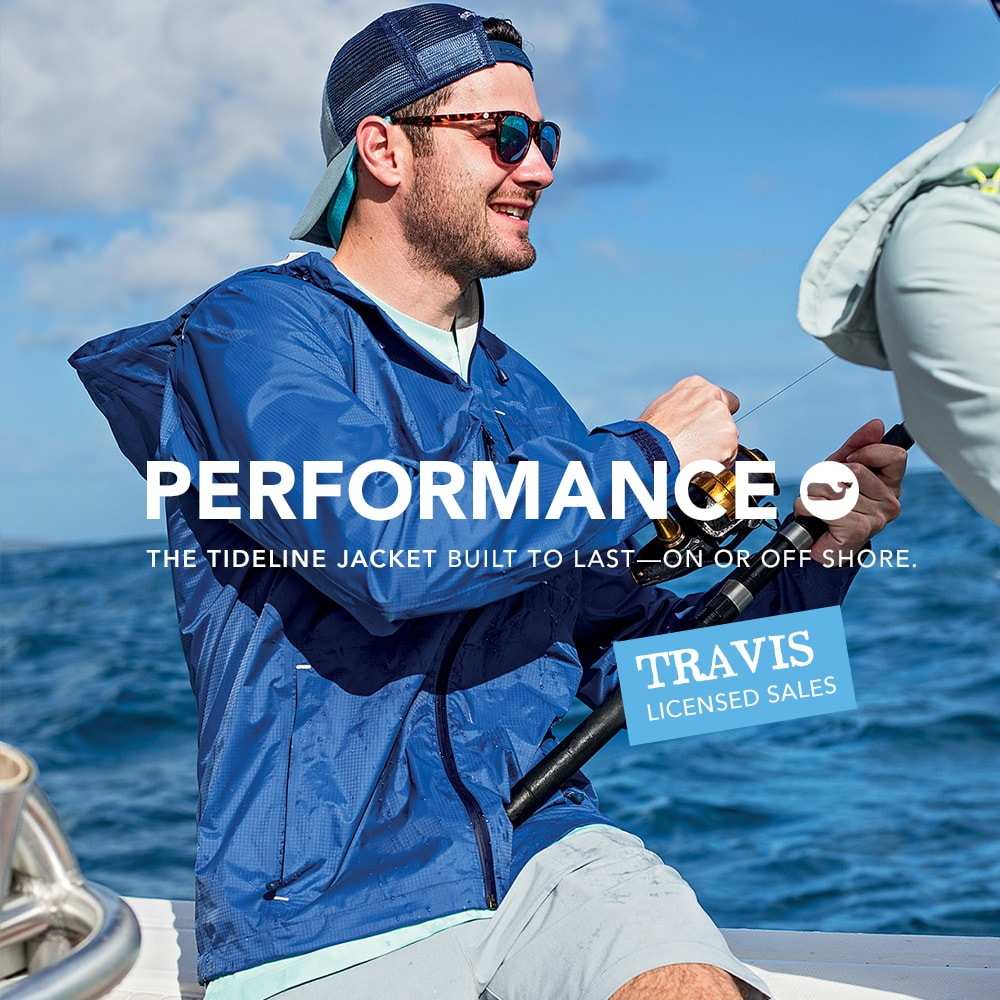 Performance. The Tideline Jacket Built to last-on or off shore.