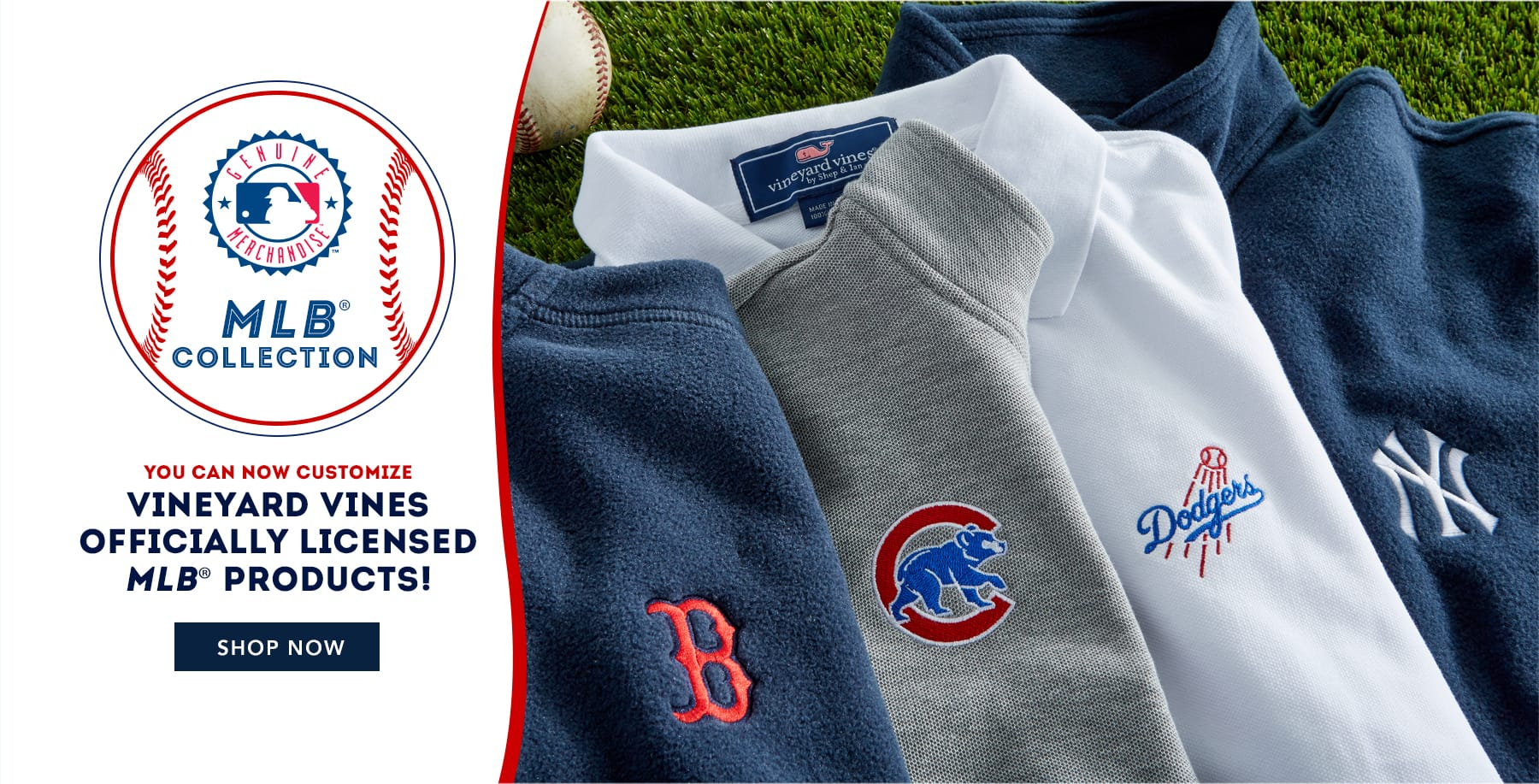 You can now customize vineyard vines officially licensed MLB products. Shop now.