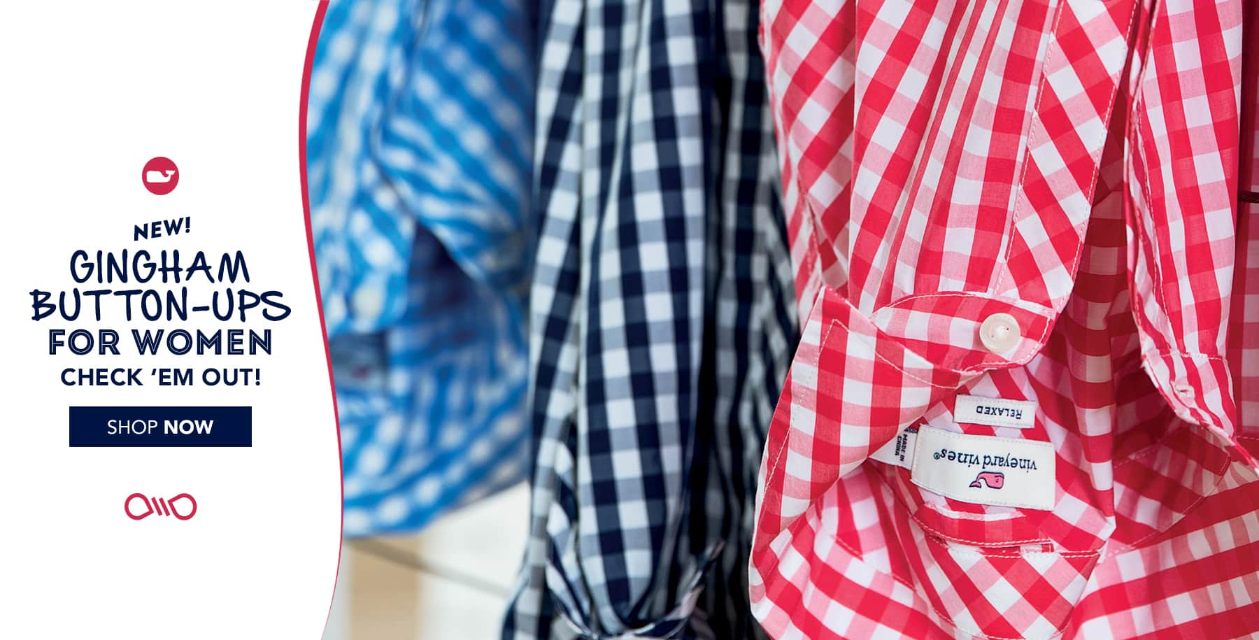 New! Gingham Button-Ups for women. Shop now.