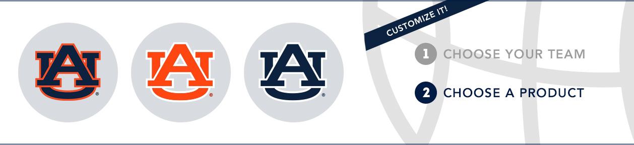 Auburn Team Shop: 1) Choose your team. 2) Choose your product. Shop Here.