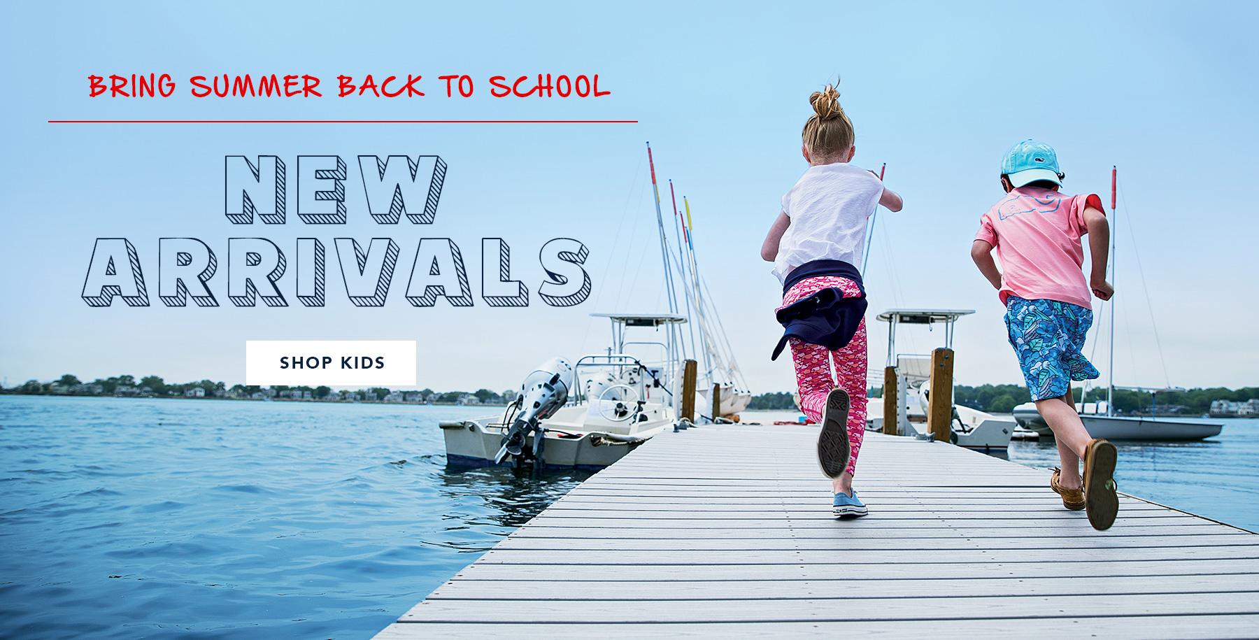 Bring Summer back to school. New Arrivals. Shop Kids.