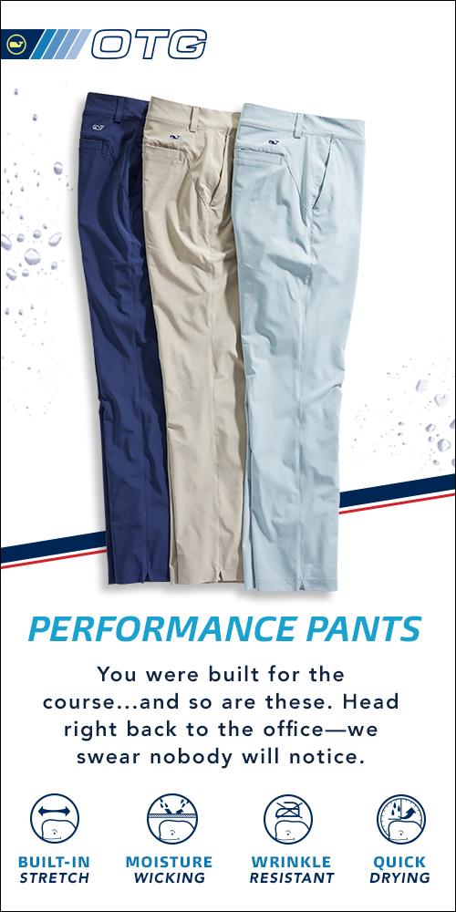 Performance pants. Product information about Men's performance pants.