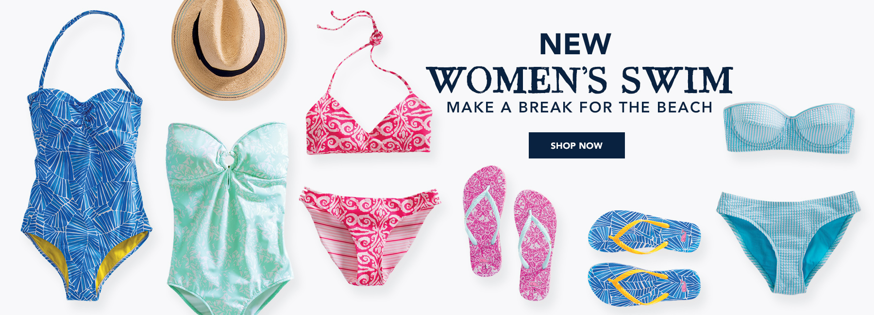 Shop women's swim.