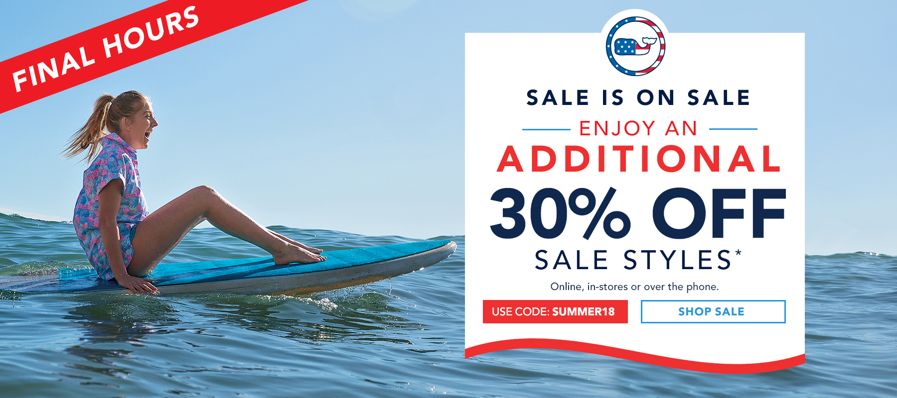 Today's Vineyard Vines special offer: Free Ground Shipping On All Orders Over $