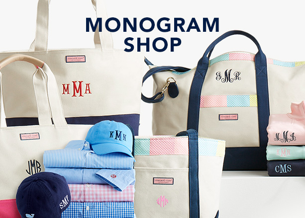 Monogram shop. Shop now.