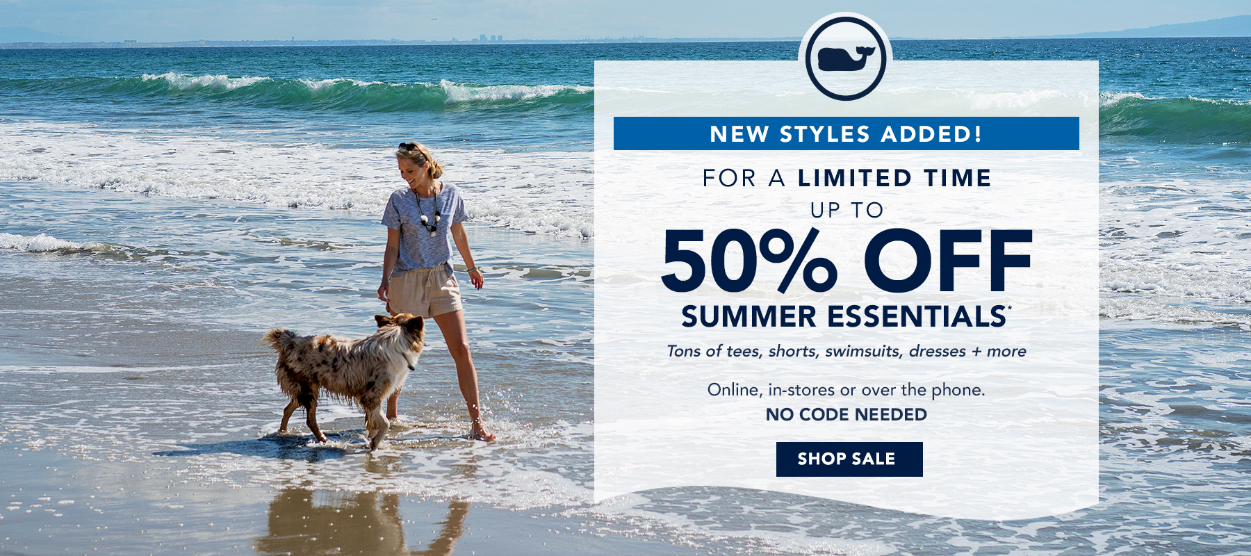 New Styles Added! For a limited time up to 50% off Summer essentials. Shop Sale.