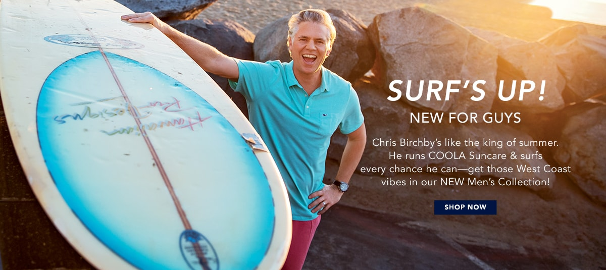 Surf's Up. Shop men's new arrivals.