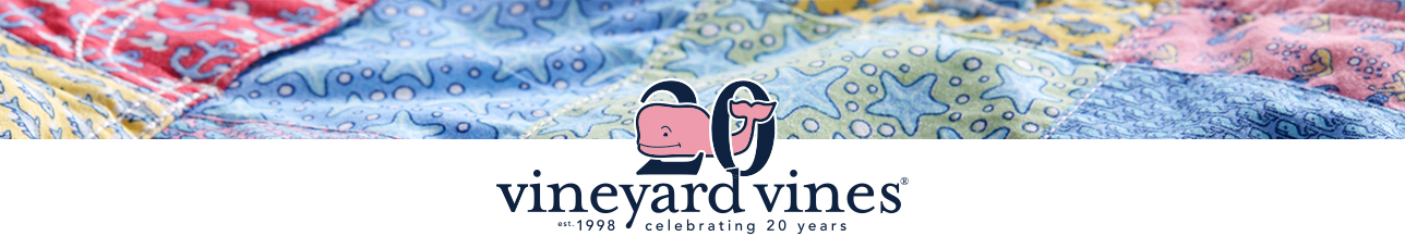 Celebrating 20 years of vineyard vines. Shop our collection