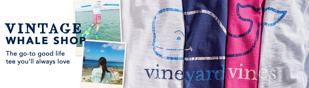 Vintage whale shop. The go-to goof life tee you'll always love.