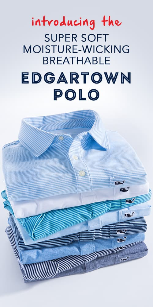 Introducing the super soft, moisture wicking, breathable, edgartown polo