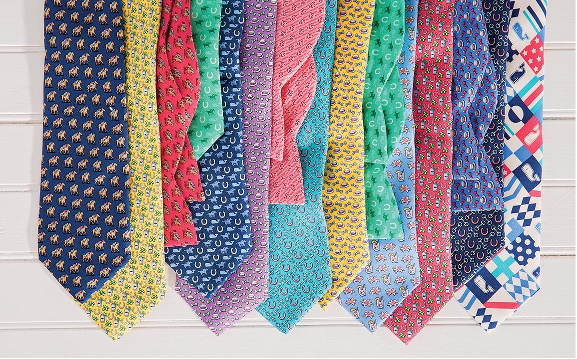 Kentucky Derby themed men's ties.