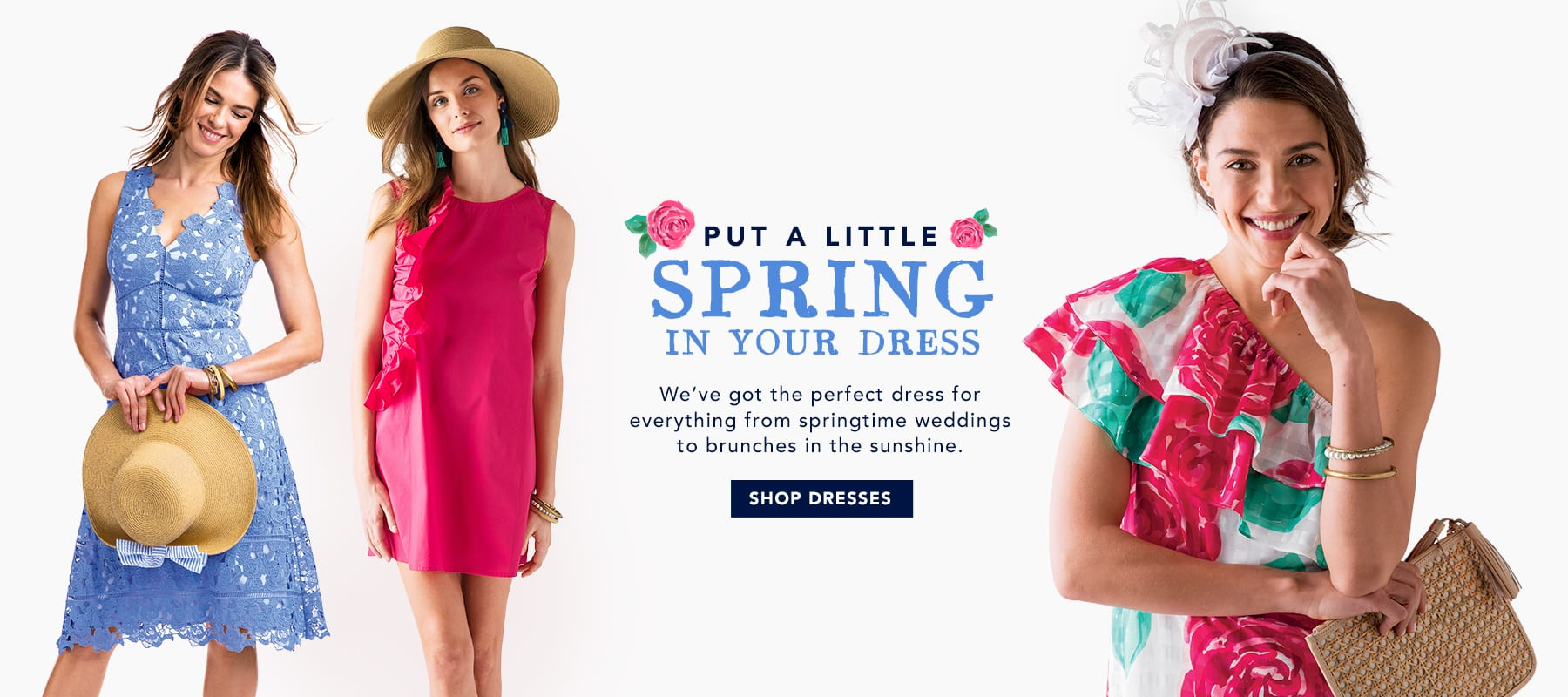 Put a little spring in your dress. Shop Women's Dresses.