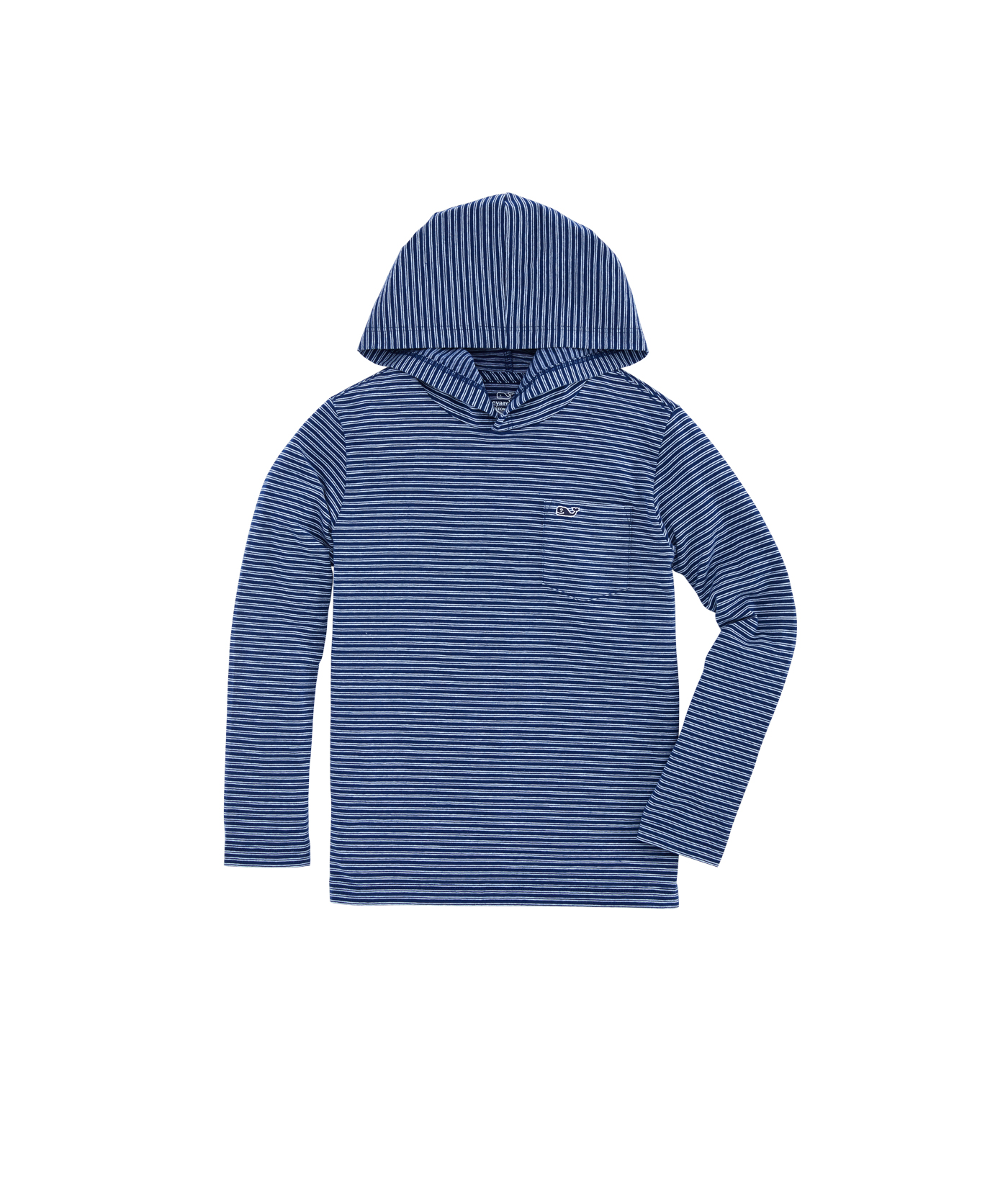 Boys Edgartown Stripe Long-Sleeve Hoodie Tee
