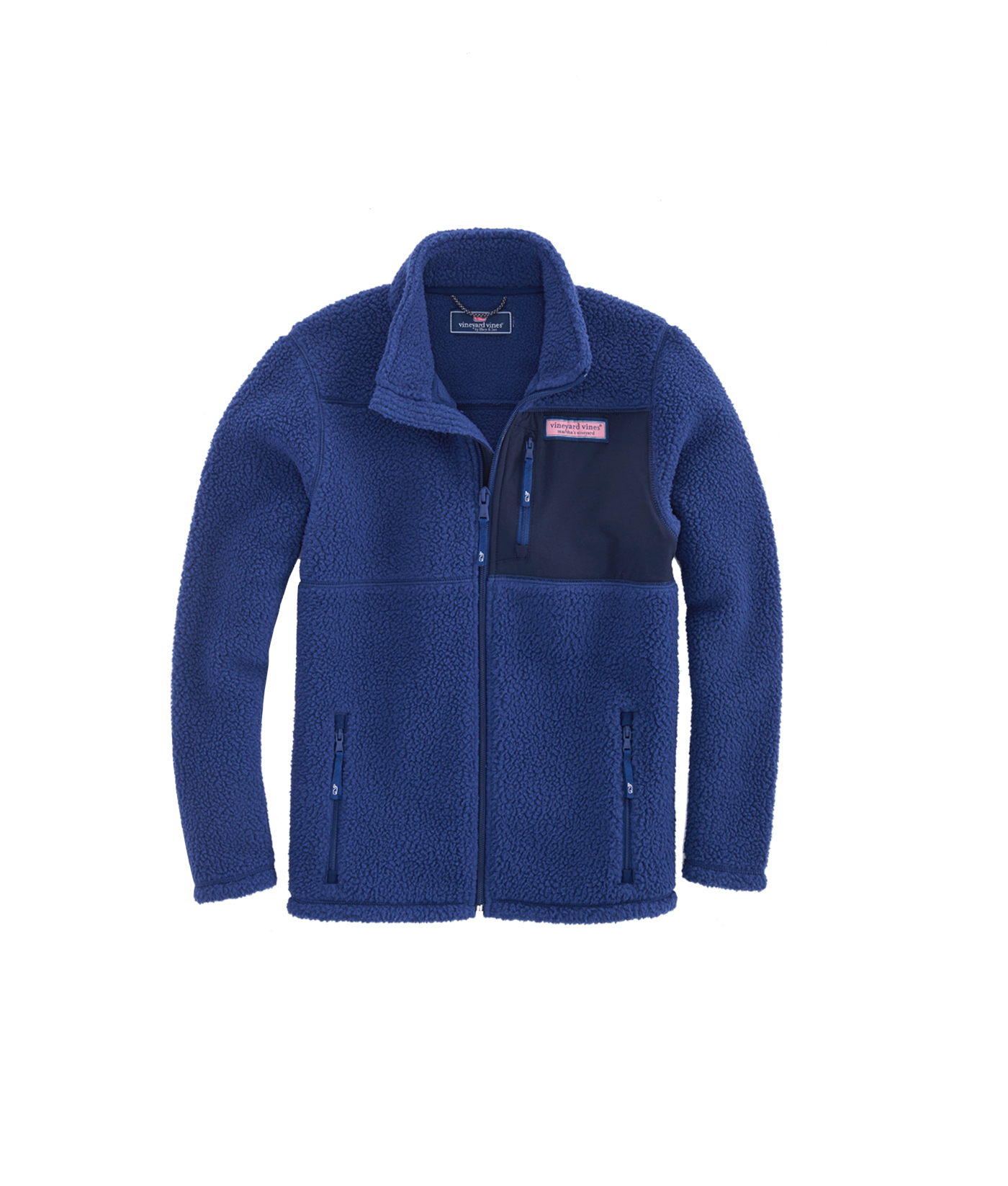 Boys Solid Sherpa Full-Zip Jacket