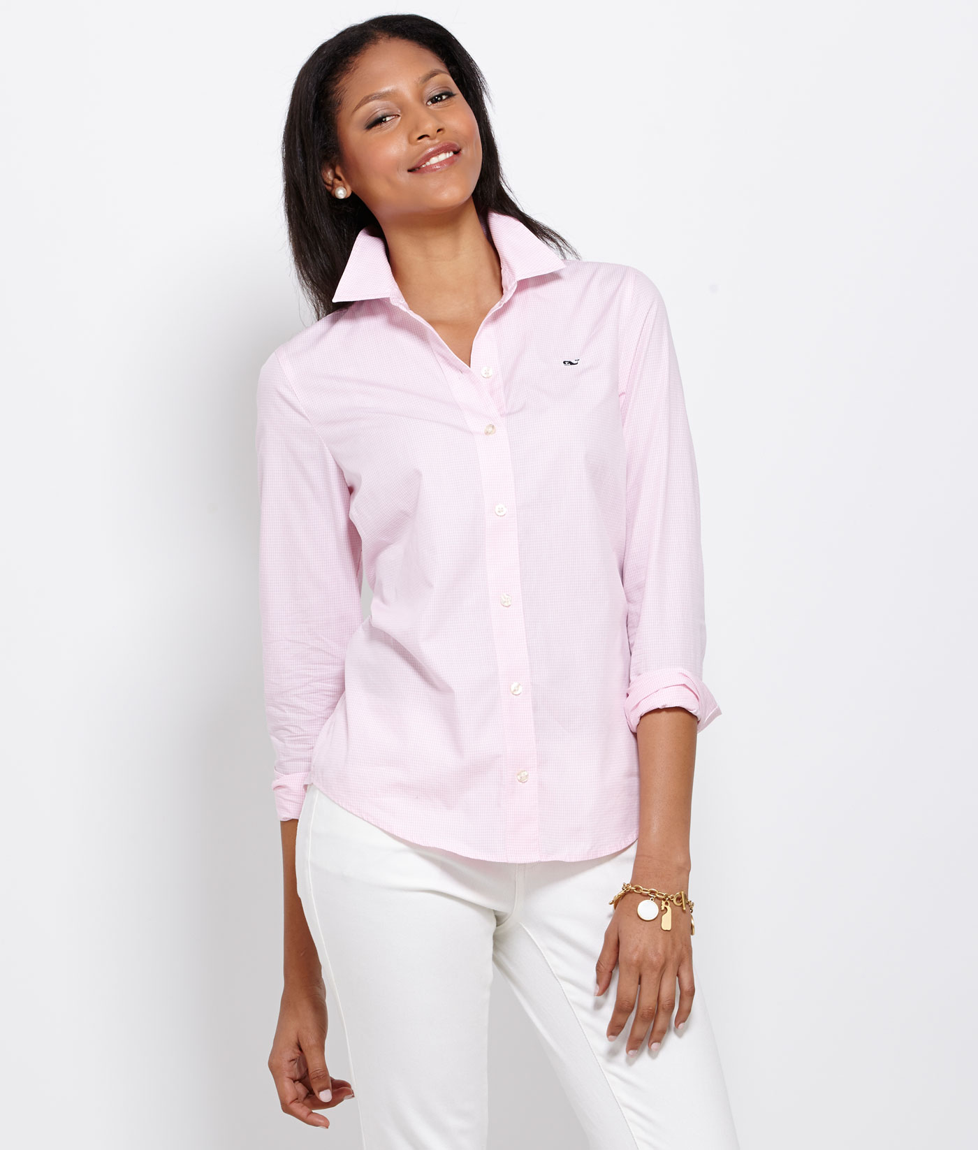 a1952645 Women's Button Down Shirts: Small Gingham Shirt – Vineyard Vines