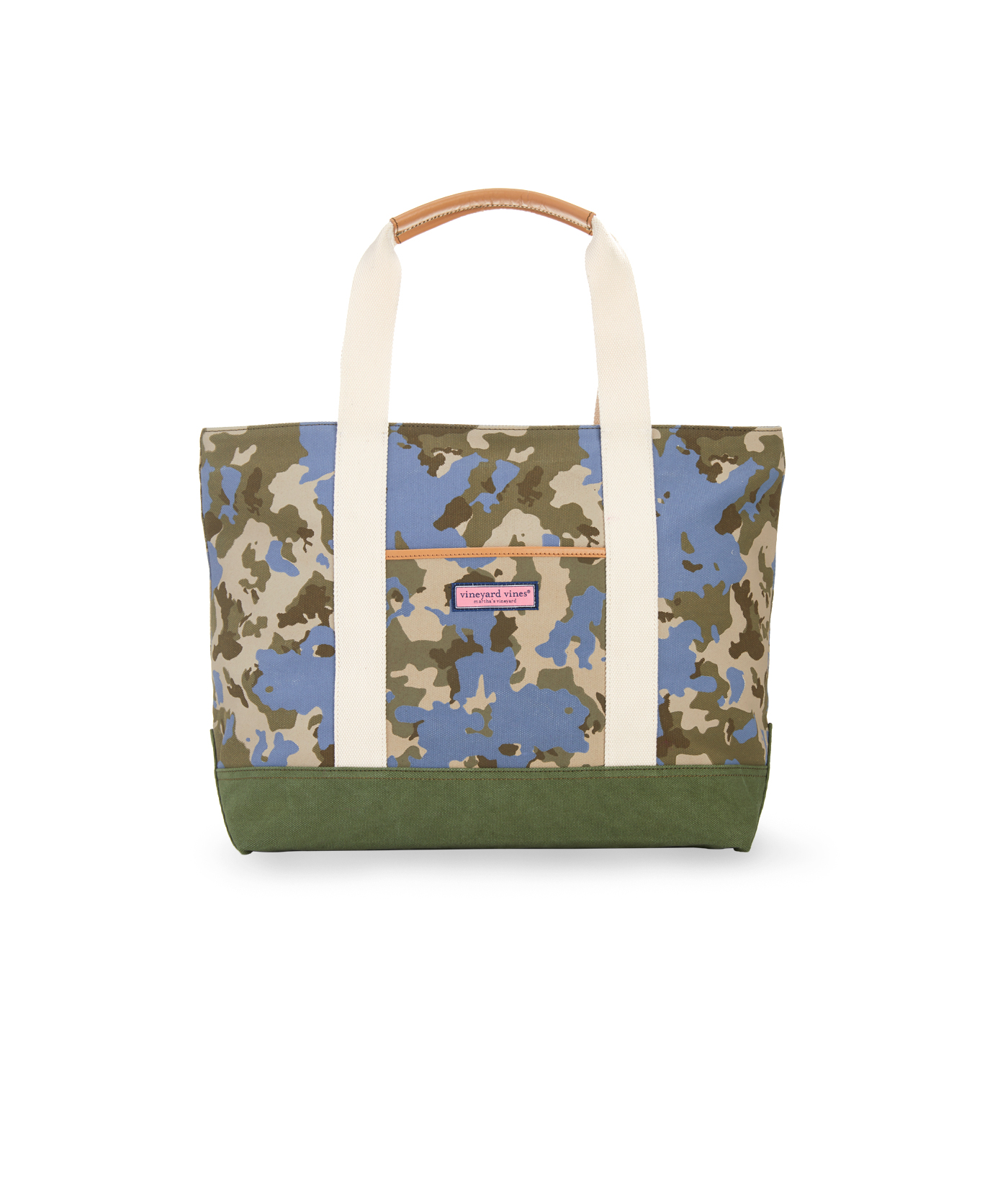 Camo Canvas Tote Bag