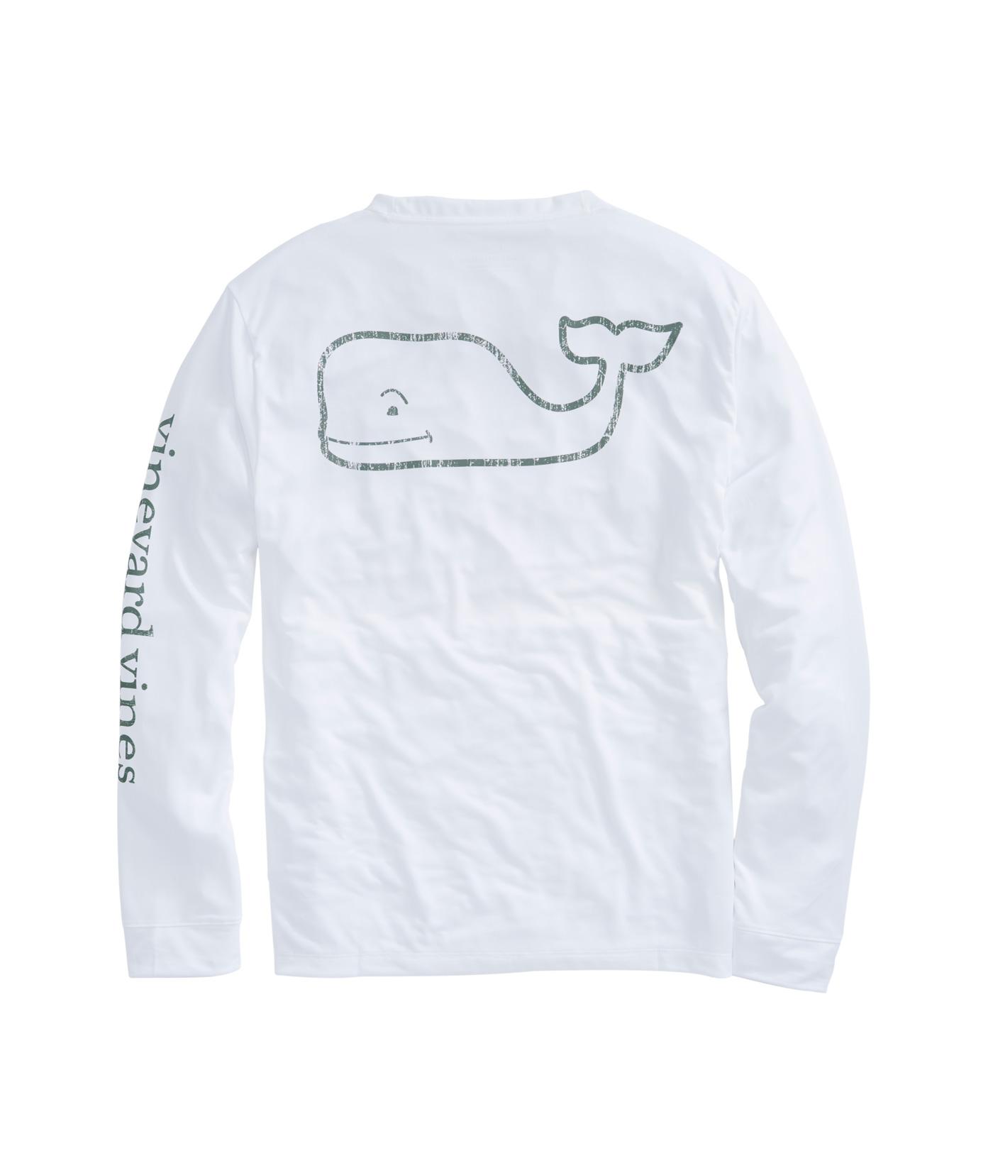 Shop Long Sleeve Vintage Whale Performance White Cap T