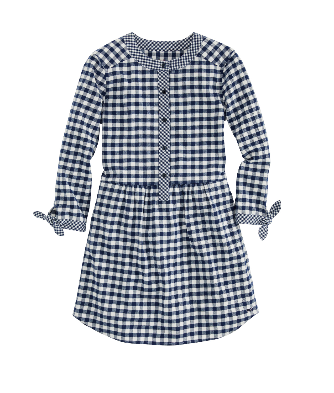 Girls Mixed Gingham Flannel Shirt Dress