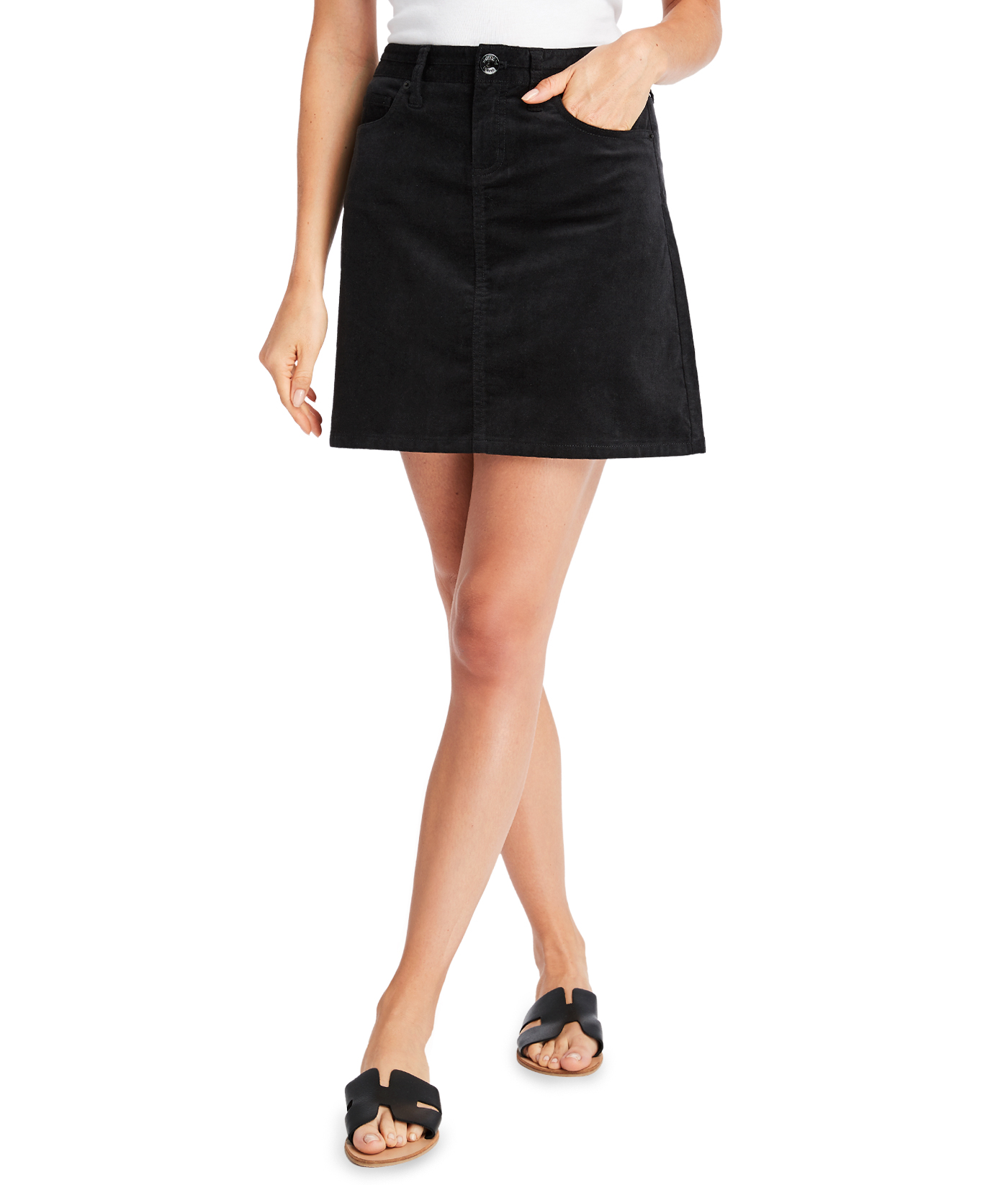 Velveteen High Waisted Skirt