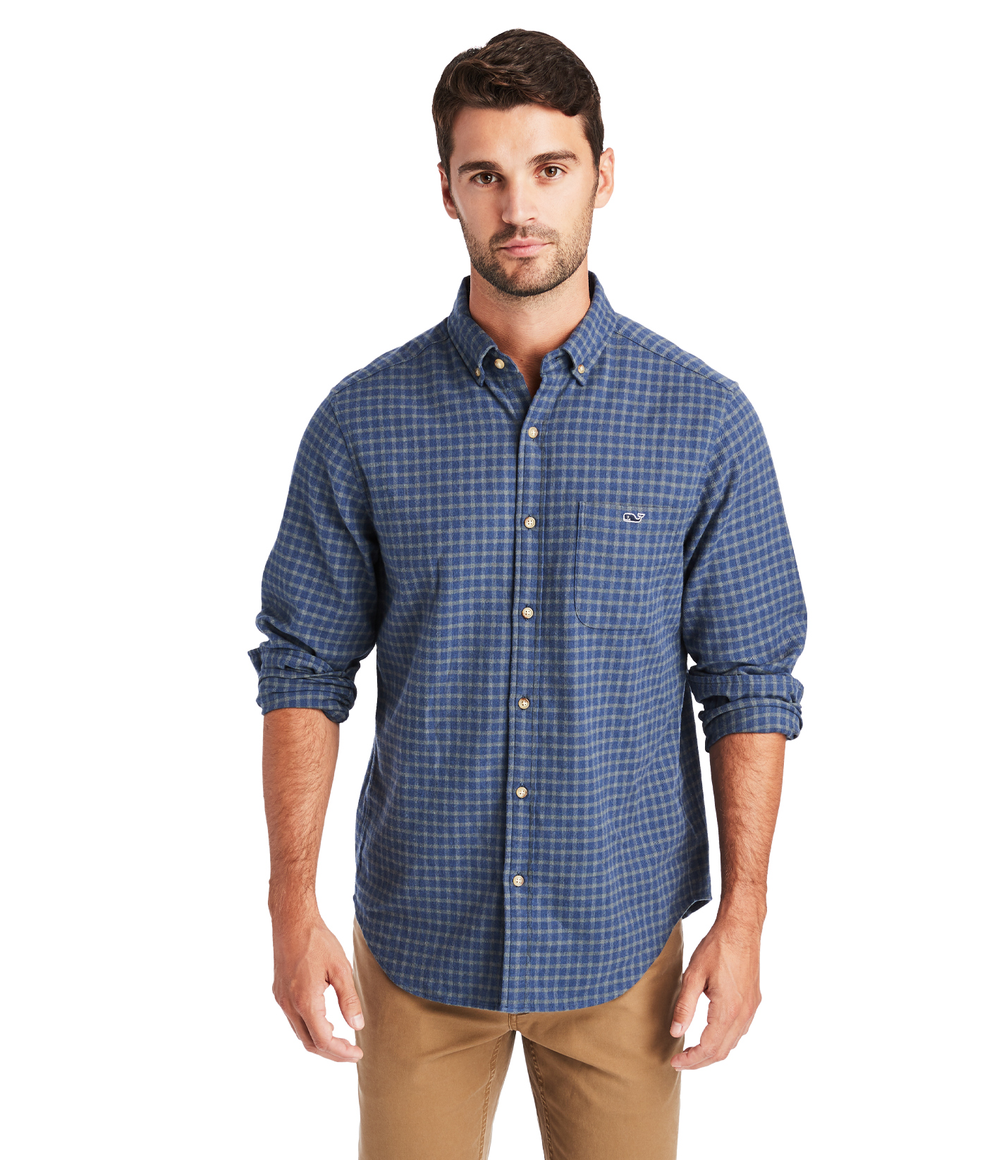 Classic Fit Faroe Flannel Tucker Button-Down Shirt