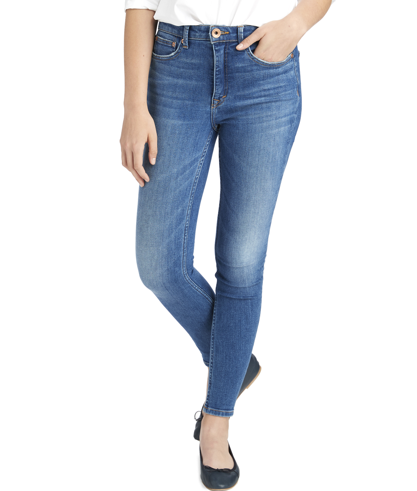 Made in the USA Jamie High Rise Medium Wash Jeans