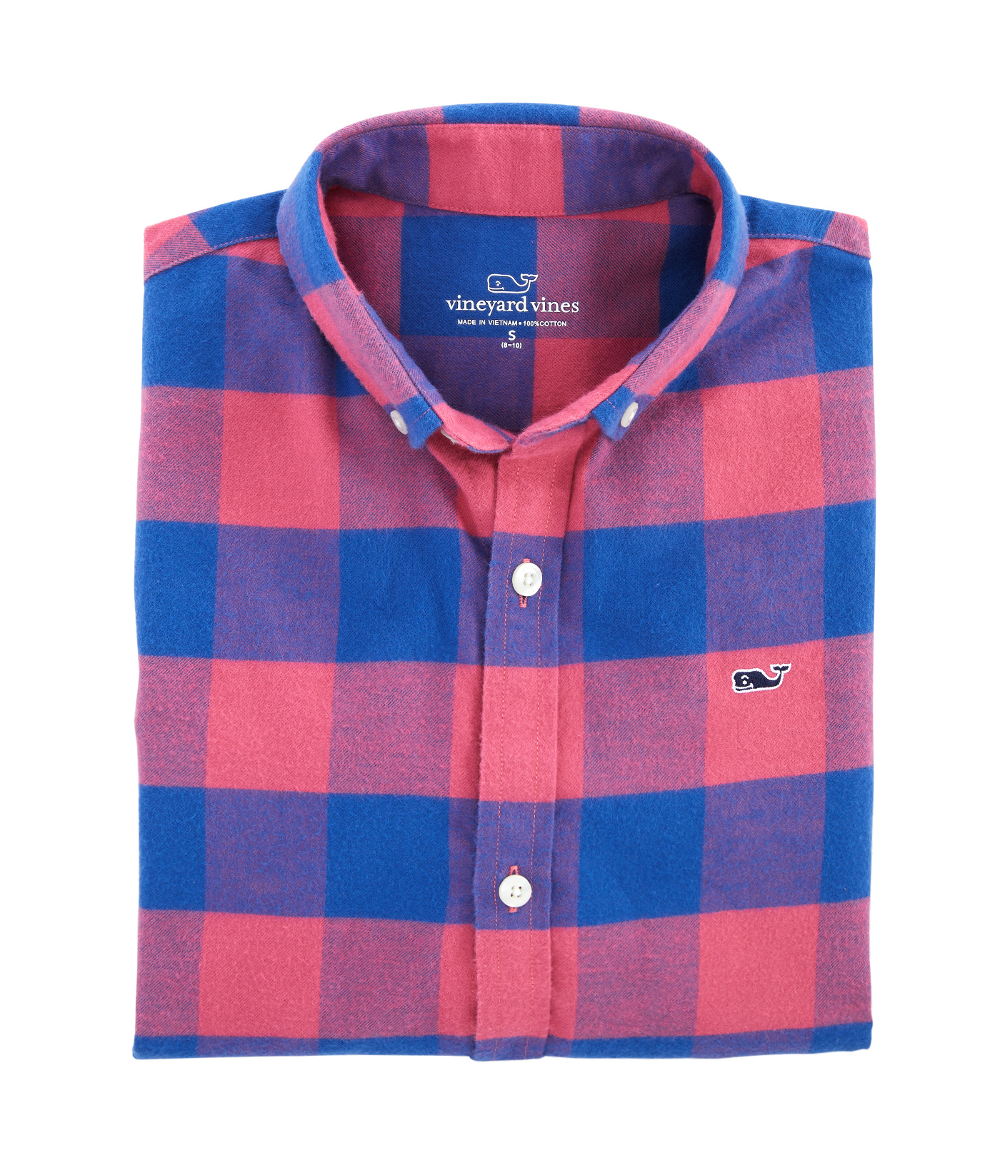 Boys Kelby Check Flannel Whale Shirt