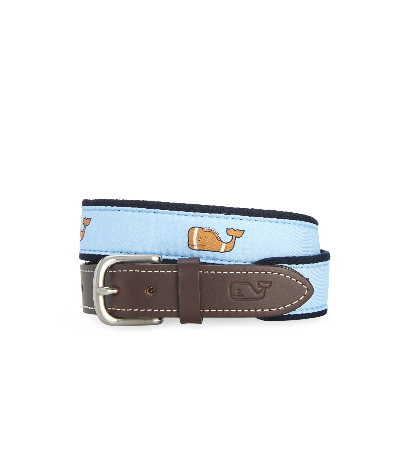 Boys Football Whale Canvas Club Belt