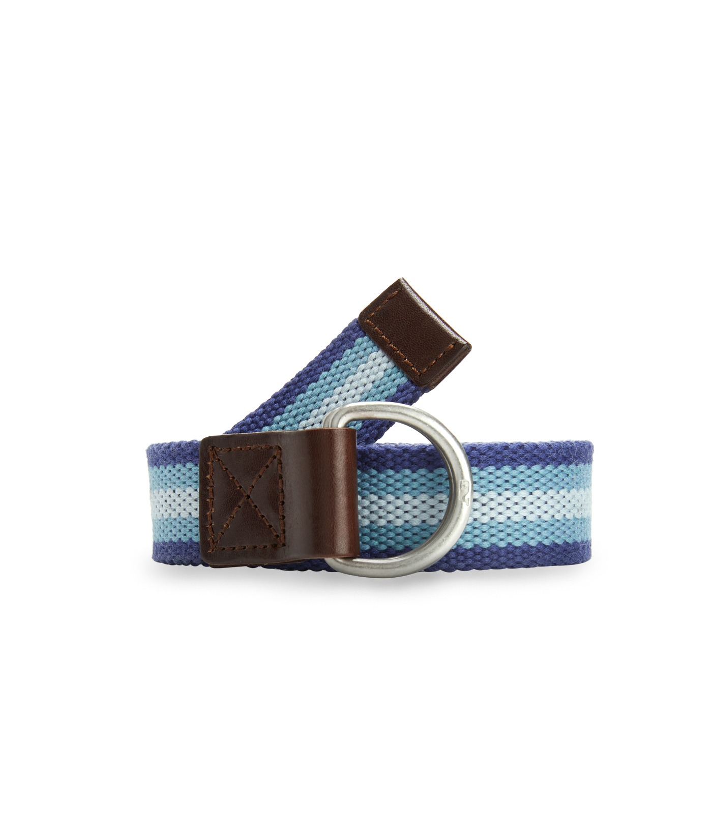 Boys Multi Stripe Canvas D-Ring Belt