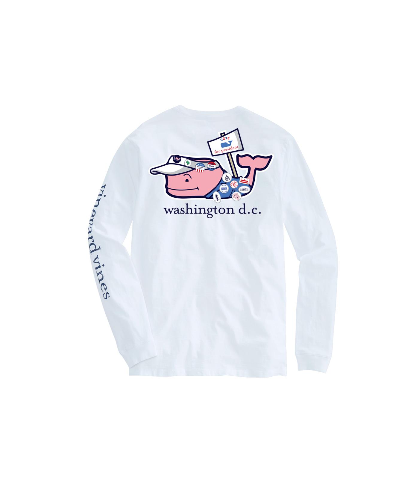 Vineyard Vines Flag Whale Washington DC 2017 Shirt Medium Short Sleeve NWOT BB