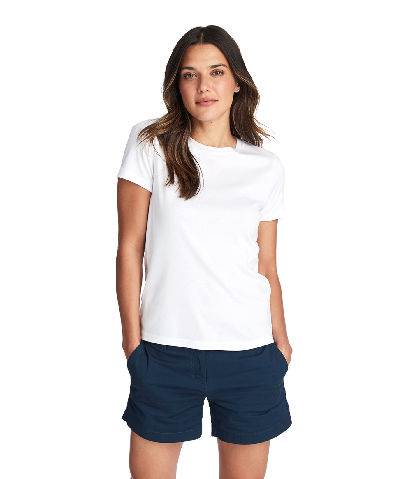 Simple Crewneck Short-Sleeve Tee